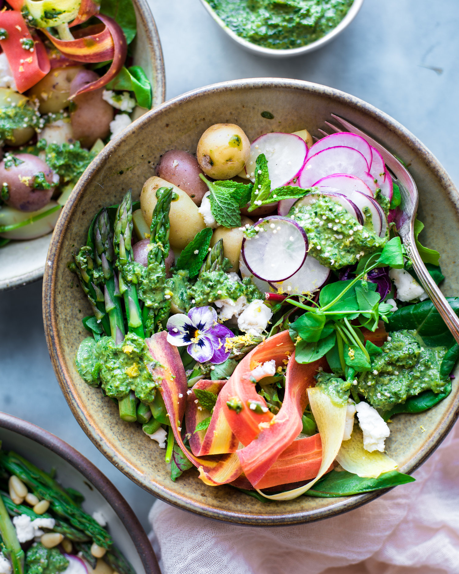 Carrot and Radish Top Pesto and Spring Salad  — Rainbow Plant Life